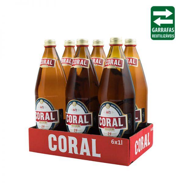 Pack 6 UND Coral Branca 1L