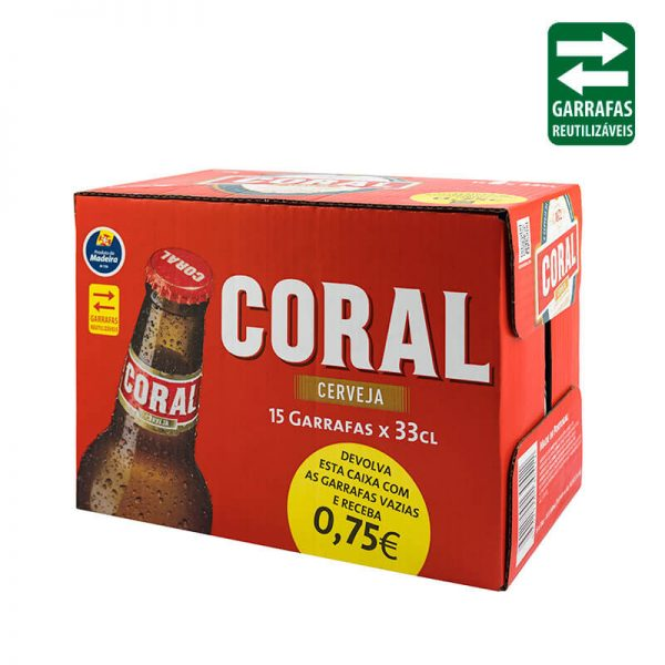 Pack de 15 Unidades de Coral Branca de 33cl