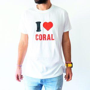 T-Shit I Love Coral Branca